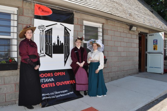 Costumed greeters at Doors Open 2014