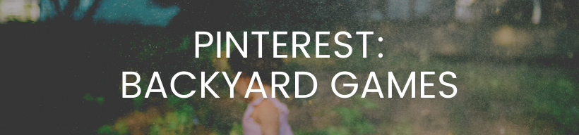 Pinterest Backyard Games Board