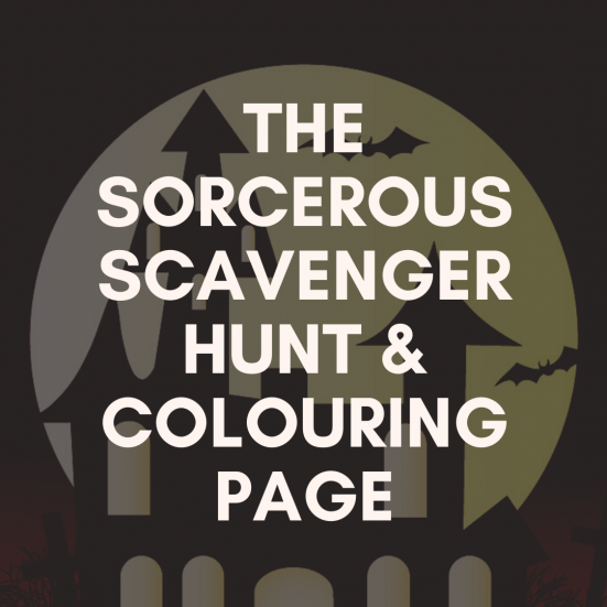 the sorcerous scavenger hunt and colouring page