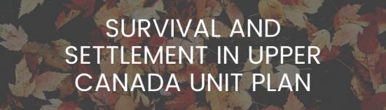 Survival and Settlement Unit Plan