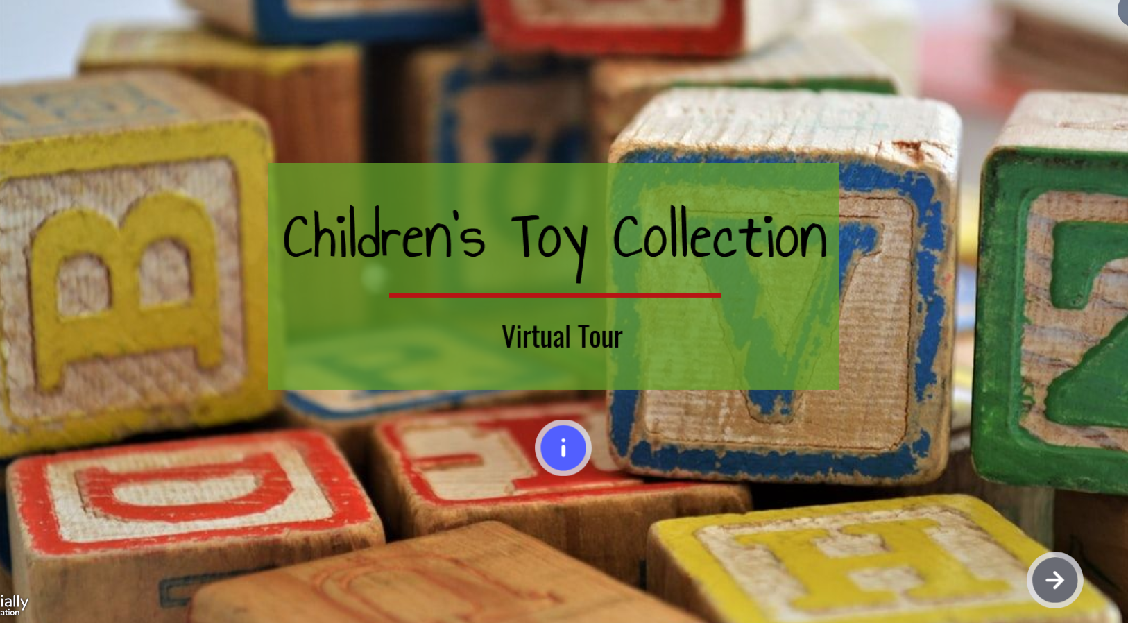 Children's Toy Collection. Virtual Tour.