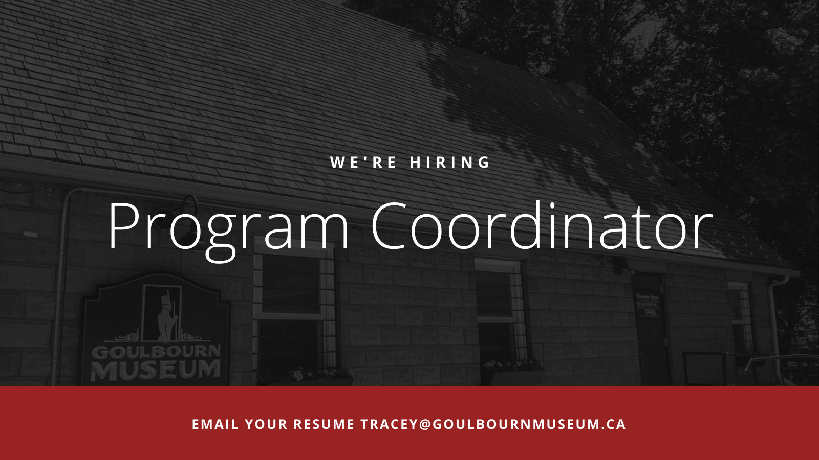 We're Hiring a Program Coordinator