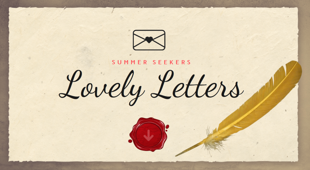Lovely letters written on a piece of old style paper with a feather pen